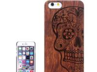 Protective Rosewood Wood Paste PC Hard Case for iPhone