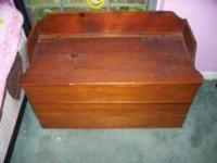 We have a chest that can be used as a toy box or
