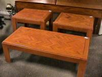 Wood Coffee & End Table Set. --- Sold seperate Get