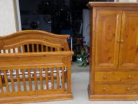 Convertible crib and armoire set. Bought originally