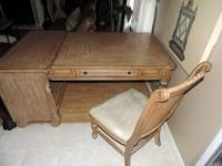 Right here is a Beautiful Tropical Light Wood Desk and