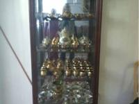 Traditional, classic wood display cabinet for sale.