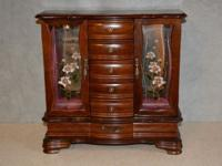WOOD DRESSER TOP JEWELRY BOX CABINET Approximate Size: