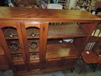 Timber Entertainment Center with 6 Doors (2 have