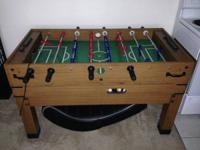 I'm offering a big size wood foosball table that