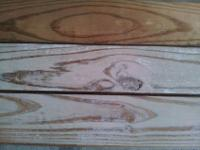 70 yr old southern pine wood. 3.5 inches wide by 3/4