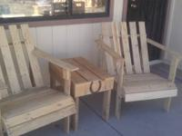 Pine Wood furnishings for sale: 2 chairs with little
