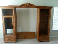 Nice wood and glass wall unit...still have it