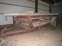 Wood hauling wagon. it is a non-working manure