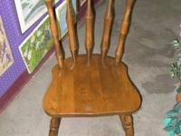 "Wood Kitchen Chair with Spindles - 63. 17.5"" (Seat"