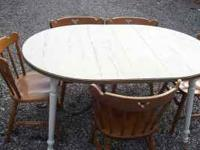 Moving Sale! Beautiful Wood Kitchen Table w/white