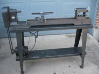 "Wood lathe made by Rockwell 36"" capacity on length 11"""