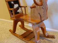 This rocking horse is the real deal! It is solid,