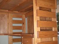 Full (larger than twin) sized solid wood loft with