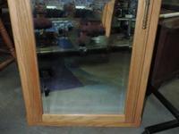 """428 - Wood Vanity w/ Mirror 24""""w x 30""""l x 3.5""""d   Help"""