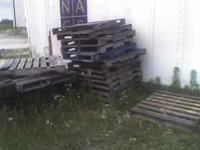 10 newer wood pallets $5. each. search this number for