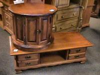 Wood Panel Sprague Carleton Coffee End Tables Excellent