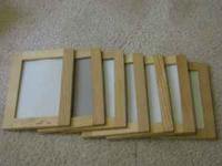 "Great wood 4""x6"" picture frames. This is for the whole"