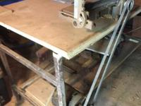 "Make us an offer. This 4""x10"" wood planer sits atop a"