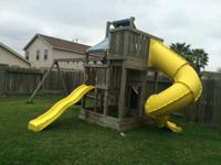 Wood play structure huge 12 feet high & 23 foot long. 3