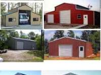 We have wood pole barns and buildings and all steel