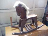Wood rocking horse Don't know much about this thing but