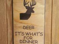Handcarved Wood Signs great for game room or mancave.