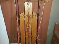 Flexible Flyer wood runner sled model 47J excellent