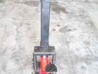 Manual, hydraulic wood splitter - purchased new for