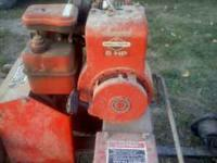 For sale I have a gas powered wood splitter, it has a