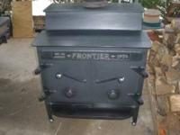 "Frontier Wood Stove 20""x26"" , very good stove, $500"