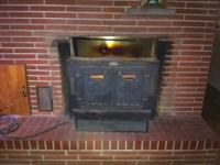 Large fireplace insert wood stove woodstove, in good