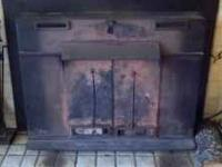 Nice old fireplace insert. Works well. Single speed
