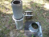 """installation kit for wood stove. 36"""" double wall pipe,"""