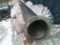 COMMERCIAL GRADE STAINLESS PIPE 9 FT LONG APPROX 6 INCH