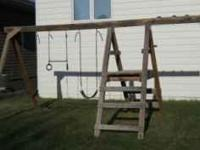 Wood Swing Set - $150.00 OBO Kids have out grown it.