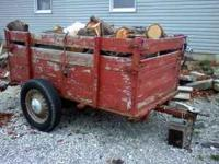 I have for a wood trailer for sale. It is 4ft wide and