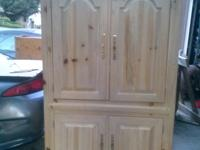 Selling this solid wood TV armoire cabinet in