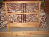 Wood Twin headboard and bed frame. Used only for about