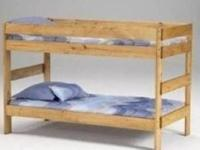 A simple and affordable twin/twin solid pine bunk bed