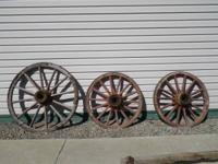 I have 3 wagon wheels in excellent cond. larger wheel