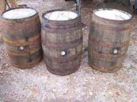 wooden whiskey barrles for sell,they are 36 inches tall