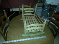 Nice hand made Doll Bed or Baby Cradle. Could be left