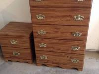 For sale - wood dresser and matching night table. Great