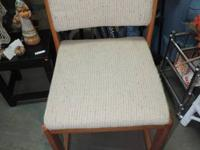 Wood Office Chair with upholstered back & seat - 367