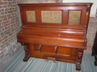CIRCA 1890, WALNUT PUMP BODY ORGAN MANUFACTURED BY H.