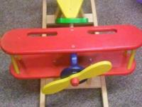 Wooden Airplane Rocker - $80. Condition: Excellent