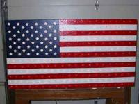 SHOW YOUR PATRIOTISM!!! Large flag made of wood that