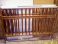 WOODEN PORTABLE BABY BED - PLAY PEN - CHANGING TABLE.