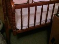 GAINESVILLE, TEXAS.....WOODEN BABY CRADLE... RARELY